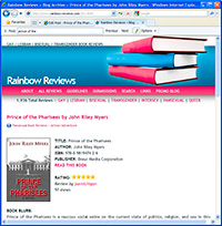 Rainbow-Reviews.com gives Prince of the Pharisees 5 Stars